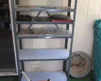 Metal Shelving & Gas Cans