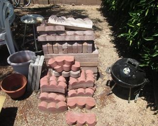 Landscape Supplies, Pavers, Pots and a Small Covered Grill