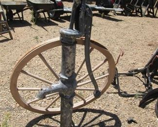 Wagon Wheel & Cast Iron Water Pump.  A Bit of History!!!