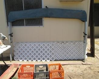 Pontoon Boat Awning Cover Sold With Boat