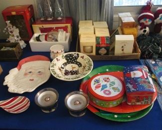 Christmas Tins, Ornaments & Serving Pieces