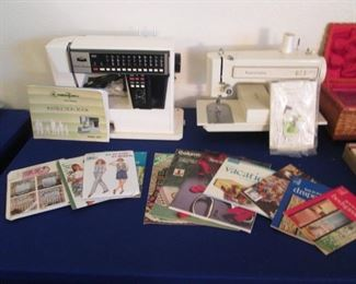 "2-Sewing Machines:  ""New Home"" Memory #5001 and       Kenmore Zig Zag #1239 + Craft and Sewing Magazines"