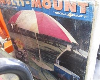 Skillcraft Multi Mount Umbrella/Table for Back of Vehicle Tailgating