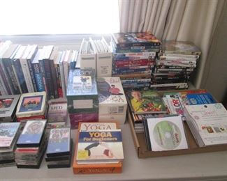 DVD's, CD's, VHS's, Yoga & Golf Sets