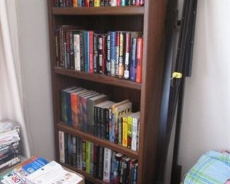 Tall Bookcase, Queen Bed Frame