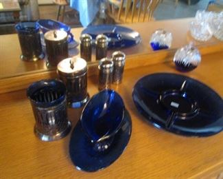 Variety of Cobalt Glass Pieces
