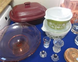 Vintage Pyrex Covered Oven Ware  Other Serving Items