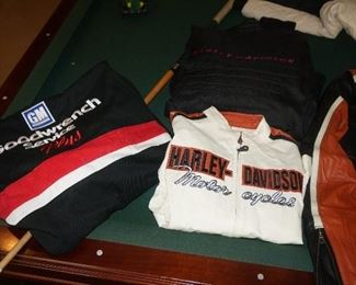 Several very nice HARLEY DAVIDSON Jackets, Leathers, and accersories