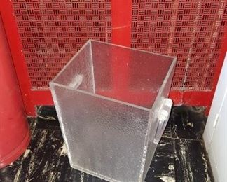 Lucite Garbage Can