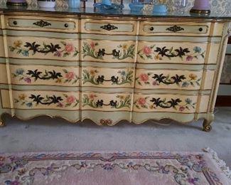 Beautiful Hand Painted Widdicomb Dresser