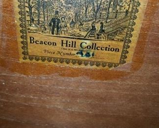 Credenza Beacon Hill Collection Label