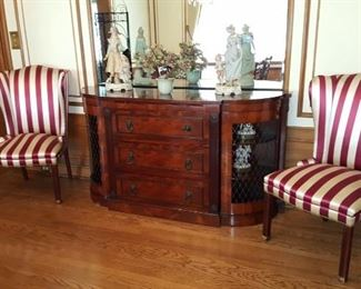 Credenza & Upholstered Chairs