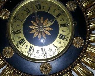 Sun Clock with Crystal Sun Rays