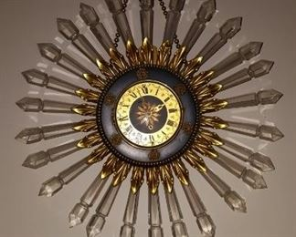 Crystal Sun Ray Clock
