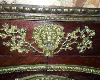 Louis XVI Detail of Bronze Paneled Credenza
