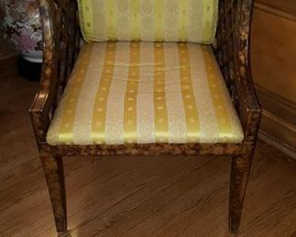 One of A Par of Upholstered Chairs