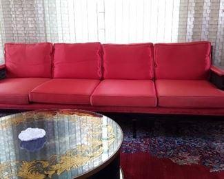 Long Red Sofa
