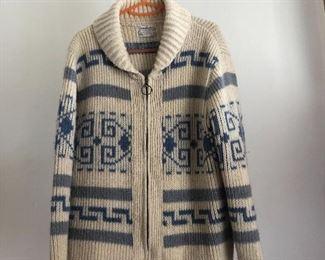 Vintage Pendleton zipper sweater/jacket popularized by The Big Lebowski, size Medium