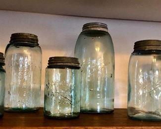 Antique Ball mason jars (c. Early 1900s)
