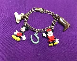 Vintage Mickey Mouse Child's Souvenir Bracelet from Walt Disney World