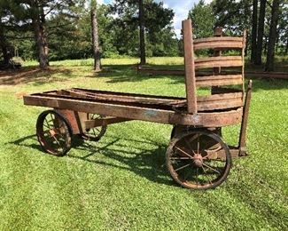 Very Old Railroad Luggage Pull Cart