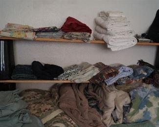 linens-towels, sheets, comforters