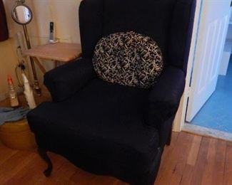 Nice large arm chair, Queen Anne style.