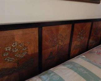 Beautiful headboard for a king size bed.