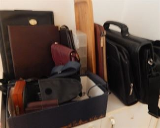 Briefcases, leather folders, wallets and more.