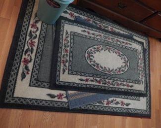 Area rugs.