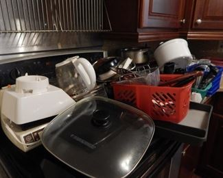 Kitchen packed with all kinds of essential tools for the cook.