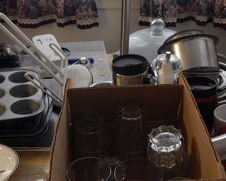 Glassware. Baking pans!!