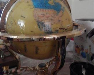 World map in this beautiful globe.