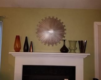 Vases and wall hanging