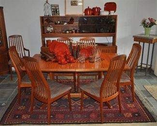 Spectacular mid century teak-furnished dining area!