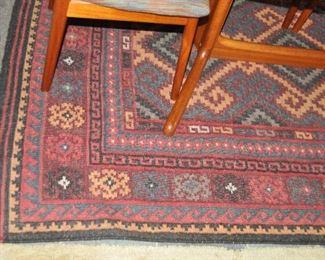 Close-up of beautiful area rug design.