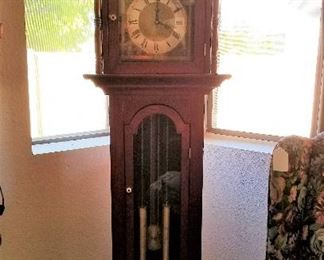Grandfather clock for sale.