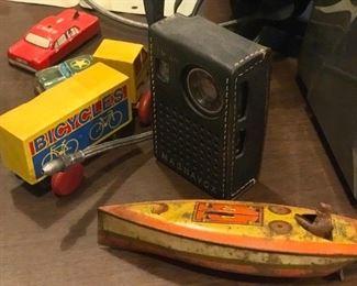 Vintage toys (boats, bikes, cars, etc.)