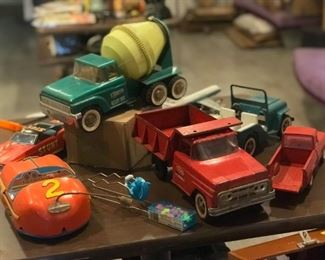 Antique toys - trucks and cars