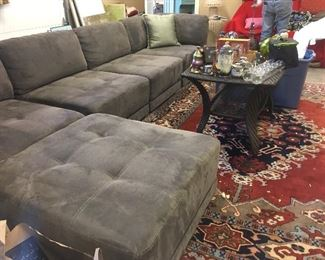 Large sectional couch / area rugs