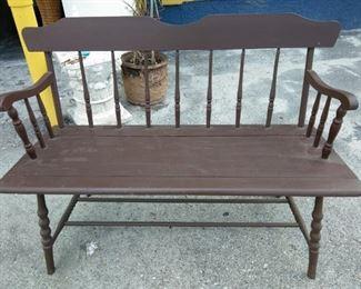 a vintage bench