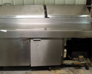 "Traulsen Stainless Steel Refrigerated Table Model VPS72C 46"" x 72"" x 33"""