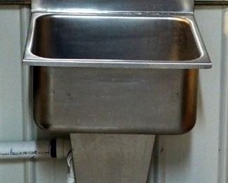 "Stainless Steel Foot Pedal Hand Sink 46"" x 21"" x 19"" Includes Soap and Towel Dispensers"