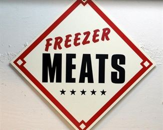 "Corrugated Vinyl Butcher Shop Signage 22"" x 22"" Qty 2"
