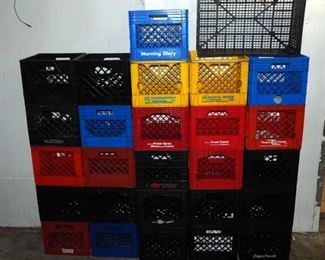 Plastic Milk Crates, Qty Approximately 25