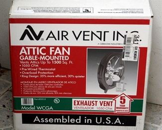 Air Vent Inc. Gable-Mounted Attic Fan Model WCGA, New in Box