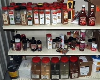 Food Seasonings, Dry Rubs, Sea Salt and More, Contents of 3 Shelves