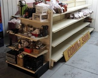 Lozier Gondola Modular Shelving Unit, 4 Sections, Whole Unit Measures 5'H x 14'L x 3'D