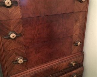 We Have A 4 Piece Antique Bedroom Set For You...A 5 Drawer Chest...