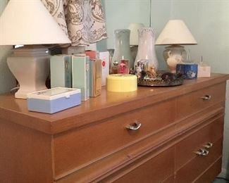 We Also Have A Pretty Vintage Blonde Dresser w/Mirror and Matching Full Size Bed...Also Being Sold As A Set...